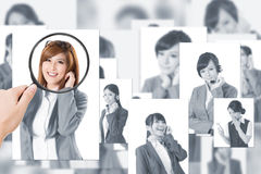 Concept of human resources Stock Images