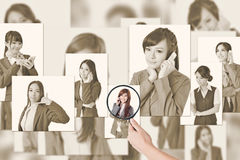 Concept of human resources Royalty Free Stock Image
