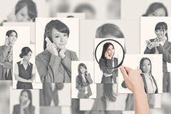 Concept of human resources Royalty Free Stock Photos