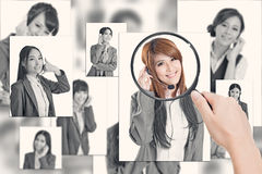 Concept of human resources Stock Photography