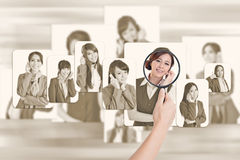Concept of human resources Royalty Free Stock Photo
