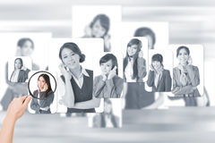 Concept of human resources Royalty Free Stock Images