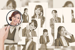 Concept of human resources Stock Photos