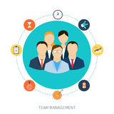 Concept of human resources and teamwork Stock Images