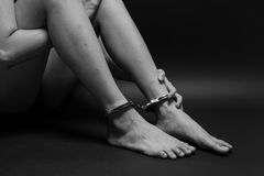 Free Concept Human Trafficking,hand Girl In Shackle Royalty Free Stock Photography - 92980227