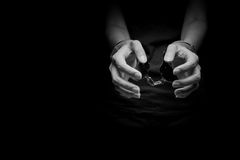 Free Concept Human Trafficking,hand Girl In Shackle Stock Image - 92980251