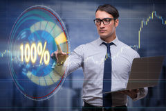 The concept of hundred percent 100 Stock Photos