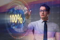 The concept of hundred percent 100 Stock Image