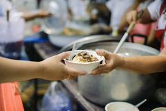 The Concept of Hunger Hunger : Sharing food with people in poor communities : The concept of feeding.  royalty free stock photo