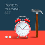 Concept - I hate monday morning Royalty Free Stock Images