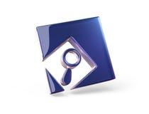 Concept Icon. Search 3d model Royalty Free Stock Photos