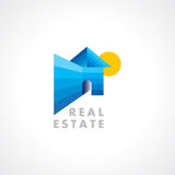 Concept  icon design template for Real estate Stock Photography