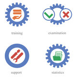 Concept of icons about automation of training Royalty Free Stock Photography