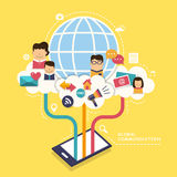 Concept with icons of global communication Royalty Free Stock Photo