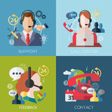 Concept icons for web and mobile phone services Royalty Free Stock Image