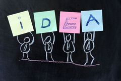 Concept of IDEA stock photo