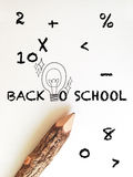 Concept idea for back to school wording Royalty Free Stock Photos