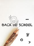 Concept idea for back to school wording Royalty Free Stock Photo