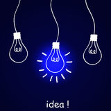 The concept of idea Royalty Free Stock Image