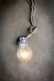 Concept of idea illustration lit lamp Stock Photo