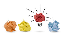 Concept of idea and innovation. With paper ball royalty free stock image