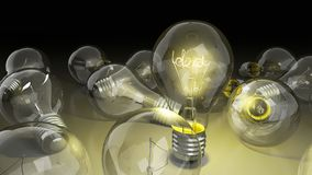 Concept of idea light bulb with word idea inside background for. Presentations 3d render image Stock Images