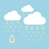 Concept idea of money raining Royalty Free Stock Photos