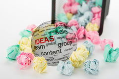 Concept of ideas in business Royalty Free Stock Photography