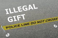 Concept illégal de cadeau Image libre de droits