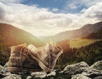 Hiking concept Stock Image
