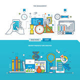 Concept of illustration - the analysis and market research, time management. Royalty Free Stock Photography