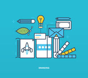 Concept illustration - branding and corporate identity, as well  tools Royalty Free Stock Photography