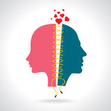 Concept Illustration for breakup Royalty Free Stock Images