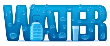 Clear natural water banner Stock Photos