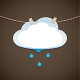 Concept illustration Cloud and Rain Stock Image