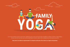 Concept illustration of family yoga Stock Photo