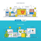 Concept the illustration - financial management and reporting, security of transactions. Concept of financial management and reporting, security of the Stock Images