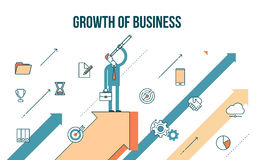 Concept illustration growth of business Stock Images