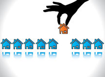 Concept illustration of Home or House Buying Royalty Free Stock Photography