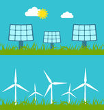 Concept illustration with icon of green energy Royalty Free Stock Image