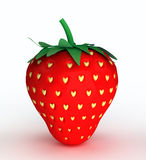 Concept illustration of love. Strawberry with seed Stock Images