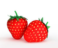 Concept illustration of love. Strawberry with seed Stock Image