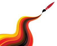 Concept Illustration Of Flowing Paint & Brush Royalty Free Stock Photo