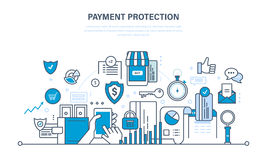 Concept of illustration - protection, guarantee payment security, finance, deposits Royalty Free Stock Photo