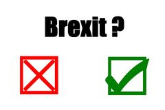 Public referendum BREXIT  - yes or no. Concept of illustration on public referendum - BREXIT- yes or no Stock Images