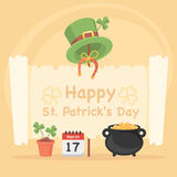 Concept Illustration St. Patrick's Day Stock Photos