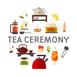 Concept illustration of tea party Royalty Free Stock Photography