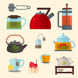 Concept illustration of tea party Stock Photo