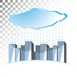 Concept illustration on the theme of cloud storage. Stock Photos