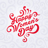 Concept illustration where it is written Happy Women`s Day vector illustration